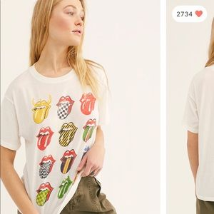 Free People Daydreamer Rolling Stones Tee